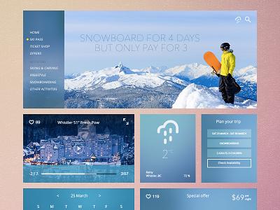 UI Kit (wintersport) style ui design kit wintersport interface