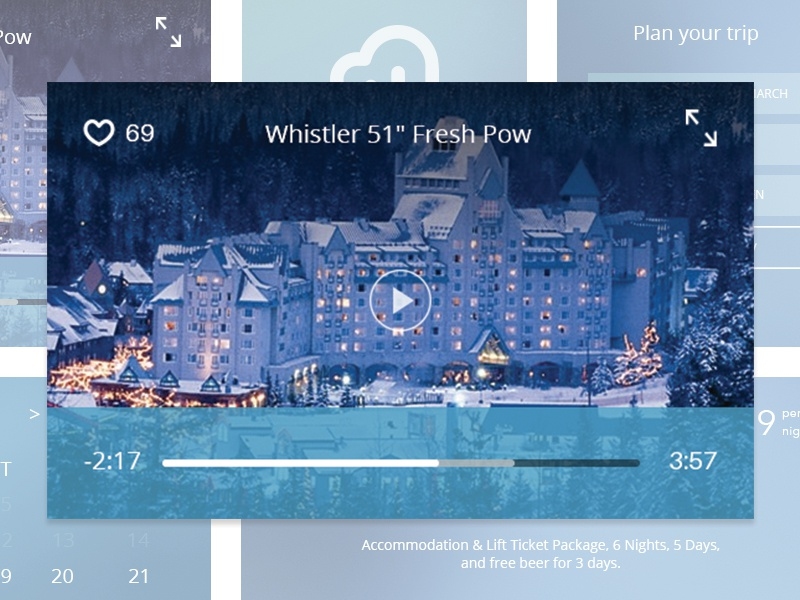 Whistler blackcomb UI Kit