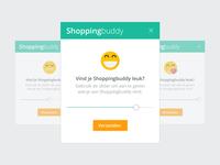 Feedback slider for Shoppingbuddy
