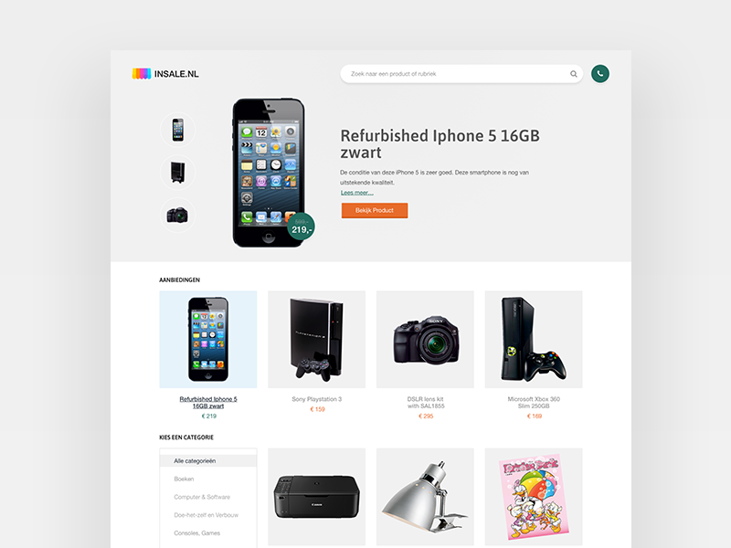 Insale - Homepage design webdesign flat ux icon design ui web