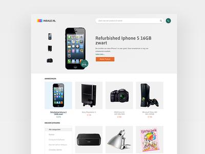 Insale - Homepage design