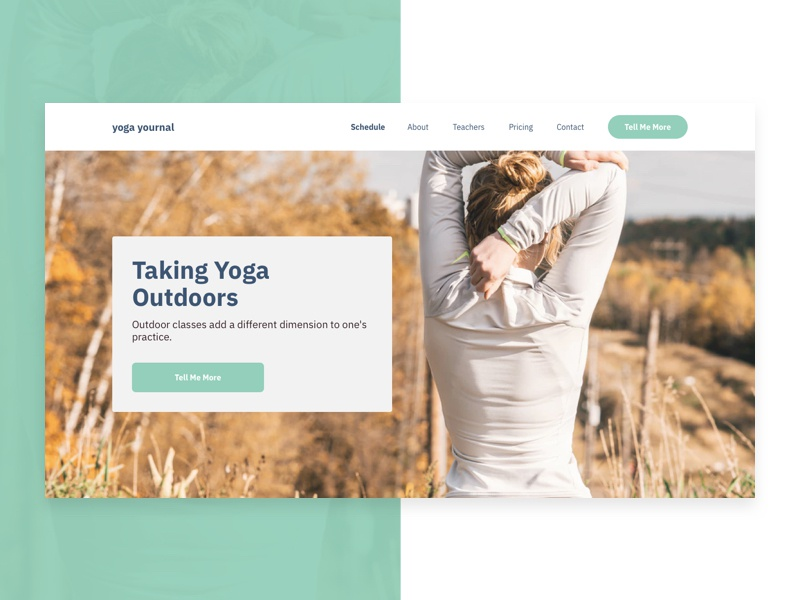 Hero section design for a yoga related website. hero section hero branding web webdesign wip ui design
