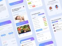 ShiftBuddy App uiux cards gradient iphone ios app isometric