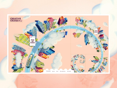 Creative Cruise 2019 illustration spinning creative cruise scroll goldenratio web loop infinite scrolling design ui interface website animation motion