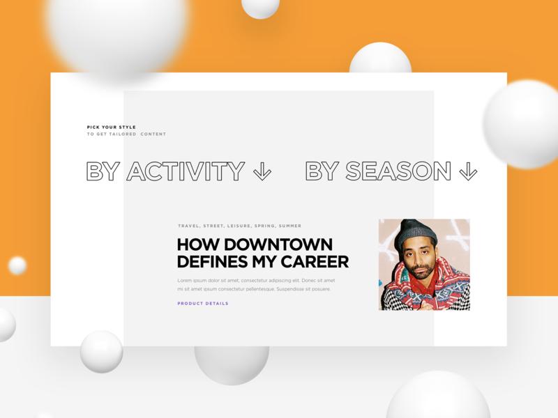 DFNS fashion filter webdesign website web ui sneakers shoes platform interface design