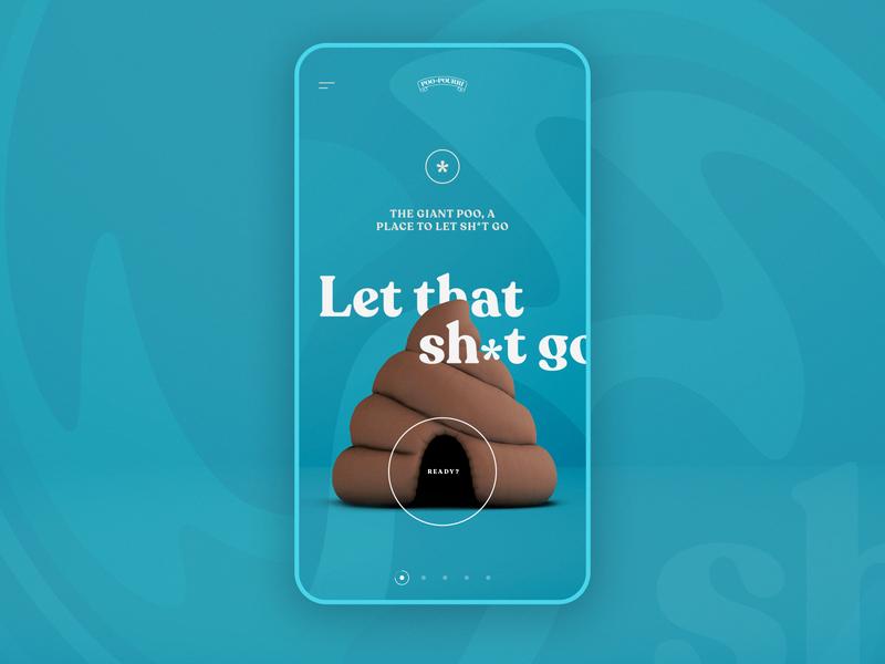 Poo Pourri — Let That Sh*t Go — Mobile 3d mobile ui webdesign website web shit let it go interface poop poo emoji design campaign