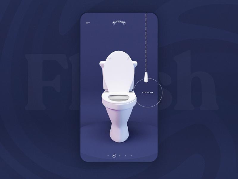 Poo Pourri — Let That Sh*t Go — Mobile flush toilet design website webdesign web ui shit poop poo let it go interface emoji campaign design campaign