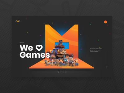 MediaTonic website transition ux game webdesign ui web platform 3d animation interface design motion website