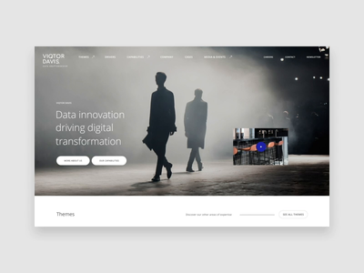 Viqtor Davis — Homepage branding data interaction transition webdesign web platform website ui interface design