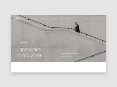 Viqtor Davis — Scroll interaction minimal branding data platform webdesign web ux scrolling interaction scroll website ui design interface