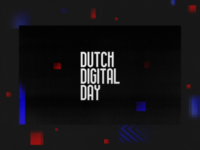 Dutch Digital Day — Promo vector typography speakers motion graphic motion promo intro illustration event dutch digital design dutch digital design design ddd branding animation 3d