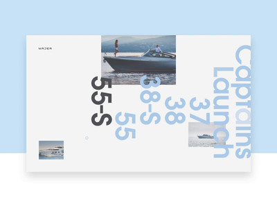Wajer Yachts — page effects effects transition branding animation webdesign web motion website ui interface design