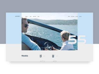 Wajer Yachts — homepage transition branding animation webdesign web motion ui website interface design