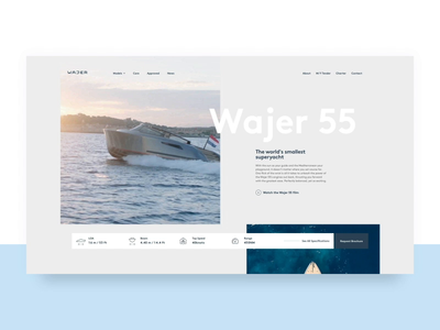 Wajer Yachts — transitions transition branding animation webdesign web motion website ui interface design