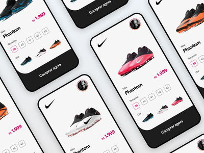 Nike app UI Challenge concept nike ios interaction design clean app uitrends inspiration interface appdesign creative designinspiration uxdesign user experience userinterface uidesign ux ui design