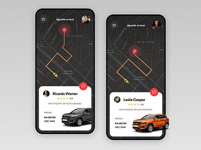 Ride app UI Challenge interaction design uitrends ux ui inspiration designinspiration creative clean app design