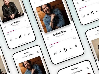 Music app UI Challenge interface appdesign uitrends creative ux ui inspiration designinspiration clean app design