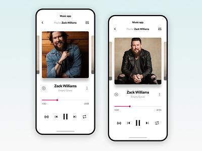 Music app UI Challenge appdesign uitrends ux inspiration ui designinspiration creative clean app design