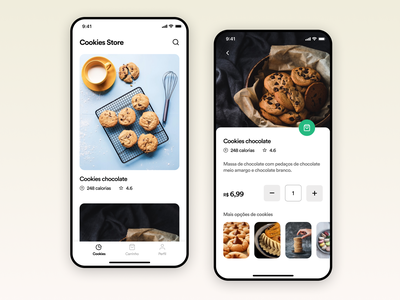 Cookies store app UI Challenge food appdesign creative ux ui uitrends inspiration designinspiration clean app design