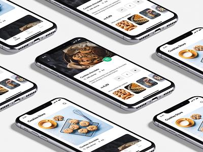 Cookies store app user experience appdesign inspiration ux ui designinspiration creative clean app design