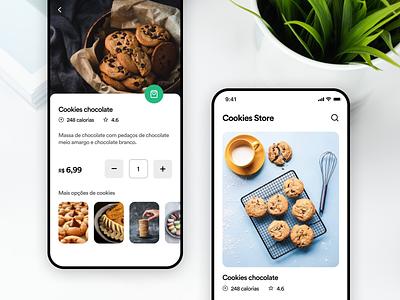 Cookies store app user interface user experience inspiration appdesign uitrends ux ui designinspiration creative clean app design