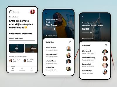 Encomendas app interface user experience app design uitrends ux ui inspiration designinspiration creative clean app design