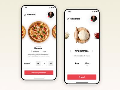 Pizza Store app uitrends app design ux ui inspiration designinspiration creative clean app design