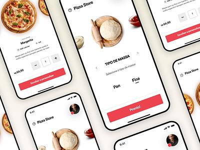 Pizza Store app appdesign uitrends ux ui inspiration designinspiration creative clean app design