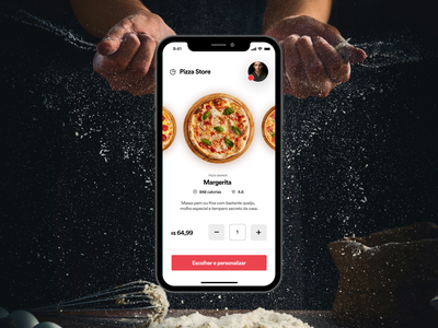 Pizza Store ux food interface ui app design inspiration designinspiration creative clean app design