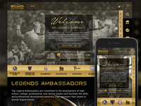 NFL Legends - Responsive Website