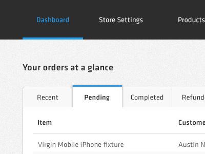 Dashboard tabs ui ux tabs flat design dashboard ecommerce simple clean
