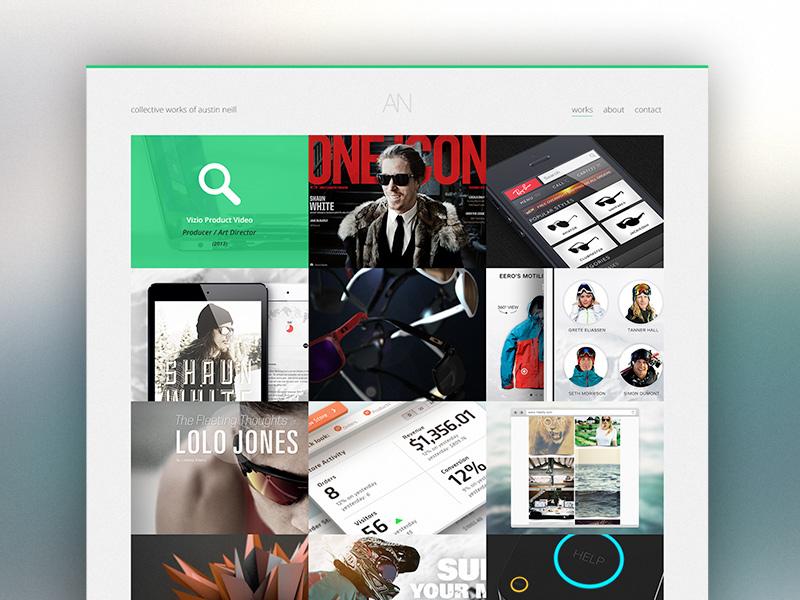 New & updated portfolio portfolio ui design works grid clean overlay flat responsive
