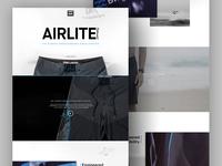 Billabong Airlite Landing Page