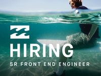 Billabong Hiring Front End Engineer