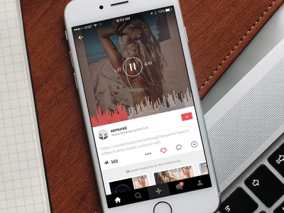 Discover Music on August sound play mockup iphone songs app ios audio player music august