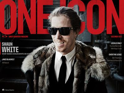 One Icon Magazine Cover Design