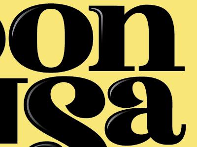 Sonrisa lettering typography