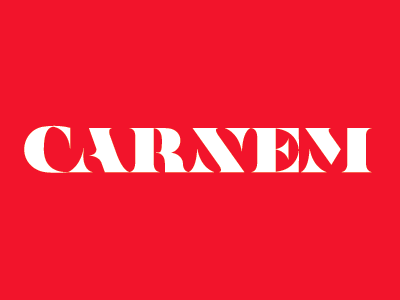Carnem logotype lettering typography
