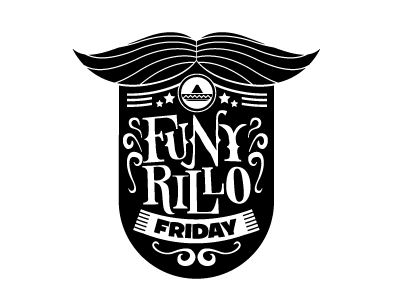 Funyrillo party logo branding lettering logotype identity