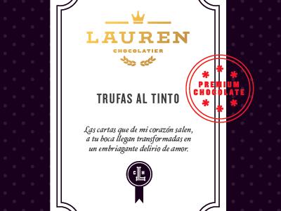 Lauren Chocolatier branding logotype identity monogram