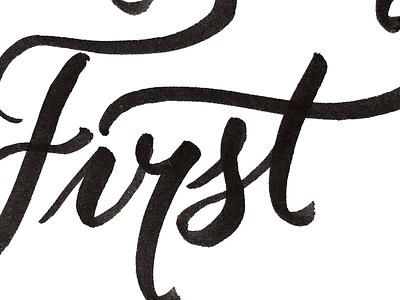 Lettering Sketch brush pen typography lettering
