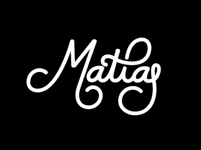 Matias Tattoo vector typography lettering