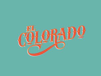 El Colorado swash tuscan branding logotype lettering