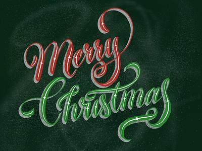 Merry Christmas Handlettering christmas procreatelettering procreate handlettering lettering