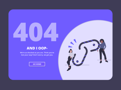 Dailyui Day 8  - Error 404