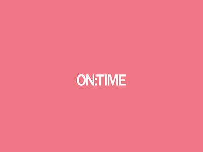 ON:TIME Logo 2017 logo design branding pastel pink