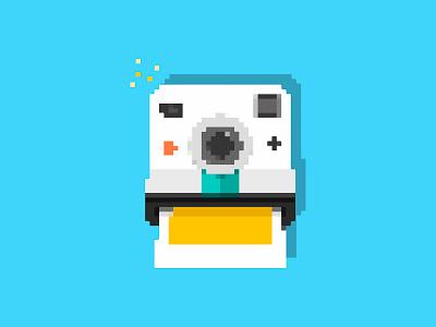 Pixel Polaroid instant pixelart pixel camera illustration icon game flat device creative polaroid