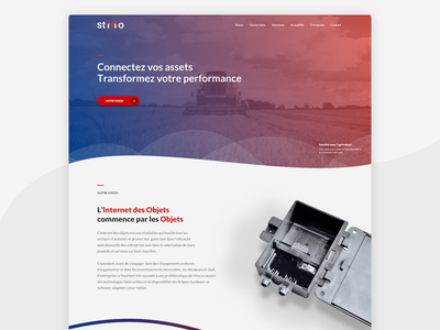IoT Startup Home Page clean dynamic web home page startup gradient iot