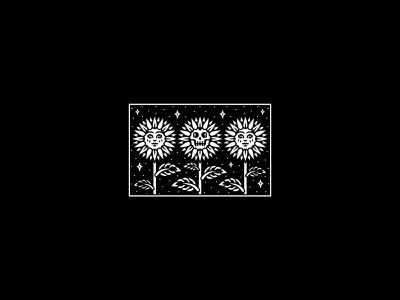 Flowers graphic occult merchandise illustration band tattoo dooom design merch