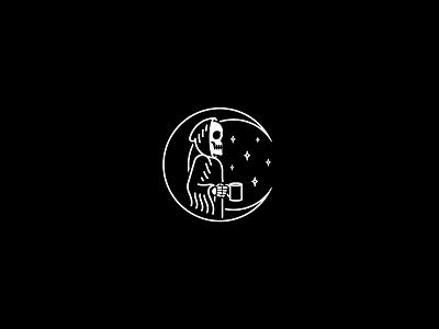 Coffee occult merchandise reaper coffee rad illustration band tattoo dooom design merch